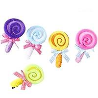 FRCOLOR 子供ヘアクリップ ベビー ヘアピン スリーピン 前髪留め ロリポップパターン 可愛い ヘアアクセサリー 髪飾り 5色 20点セット 出産祝い ギフト
