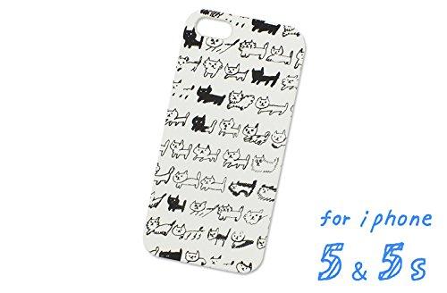 iPhone5/5s AIUEO iPhone Case NEKO BORDER BK