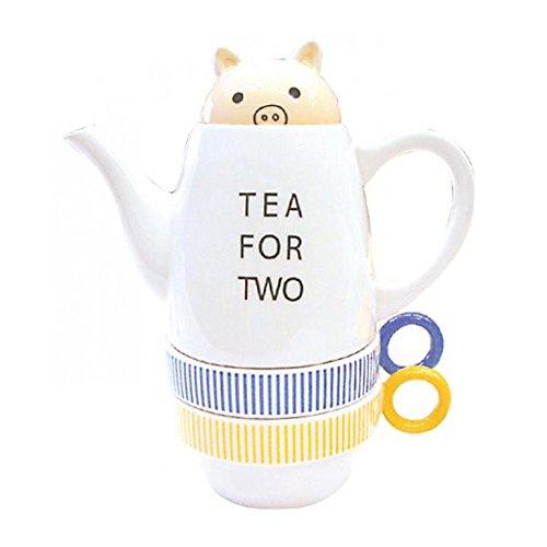 Shinzi Katoh(シンジカトウ) Tea for Twoティーフォーツー ブタ (ステンレス茶こし付き)