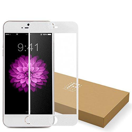 PROTAGE iPhone6s / iPhone 6 反射防止 アンチグレア ガラス フィルム (4.7インチ) 0.4mm 強化ガラス 保護フィルム 硬度9H 非光沢 ノングレア ガラスフィルム アイフォン iPhone 6 / 6s (ホワイト)