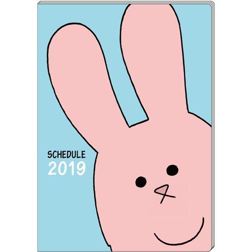 スキウサギ 2019年 スケジュール帳 手帳 12月はじまり