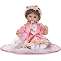 NPKDOLLシミュレーションRebornベビー人形ソフトSiliconeビニール18インチ45 cm Lifelike Vivid Toy Boy Girl rd45 C051ow Eyes Open