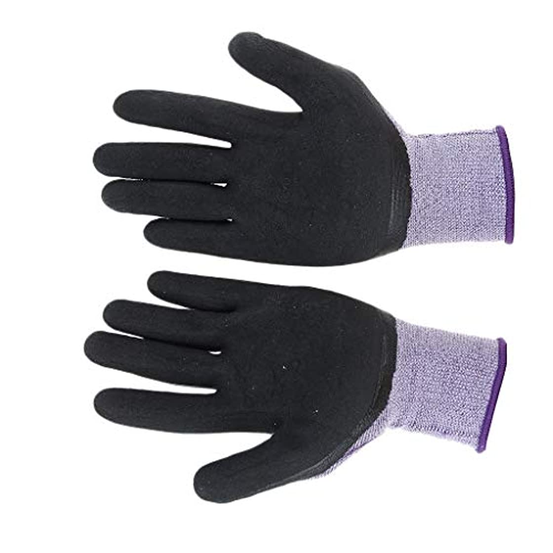 なる小康落花生ナイロンラテックス滑り止め弾性安全作業保護手袋、優れたグリップ