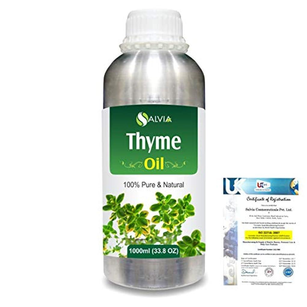 Thyme (Thymus vulgaris) 100% Natural Pure Essential Oil 1000ml/33.8fl.oz.