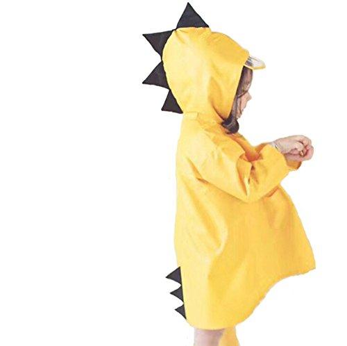 Eternal Wings 子供 レインコート 雨具 キッズ レインウェア 男の子 女の子 小学生 通学 3D 漫画 小さな恐竜 (L)