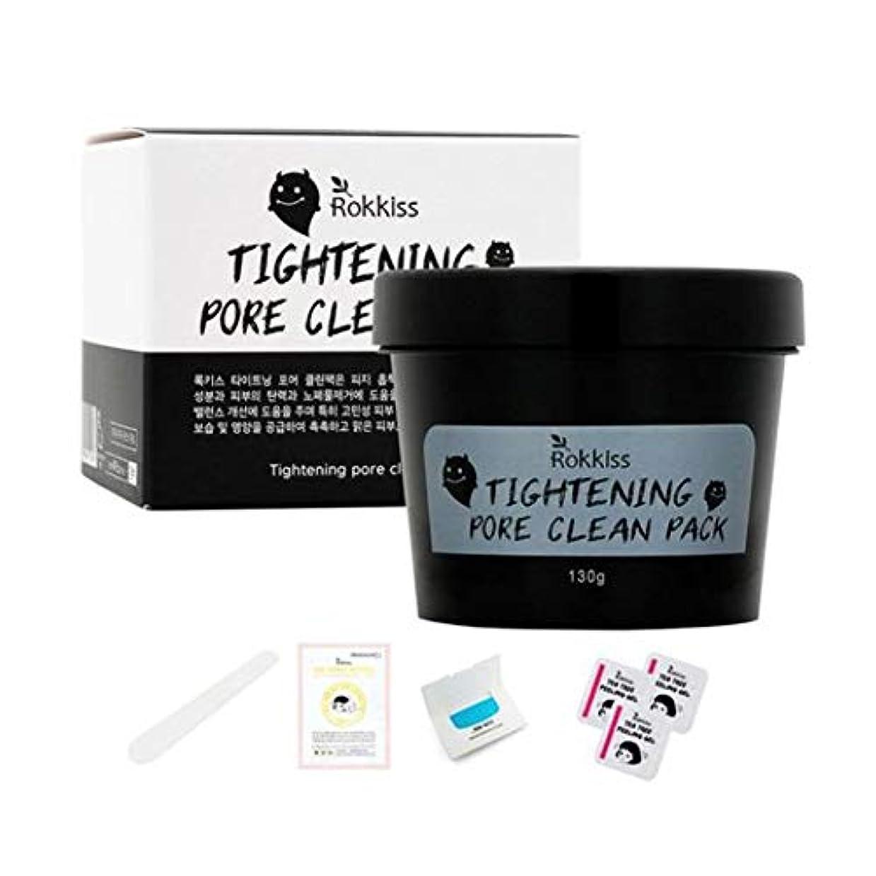 動物治療免疫【Rokkis] Tightening Pore Clean Pack/強力な吸着毛穴パックセット/カオリン、ベントナイト、マッド成分含有/皮脂除去/毛穴収縮/追加4種プレゼント贈呈[並行輸入品]