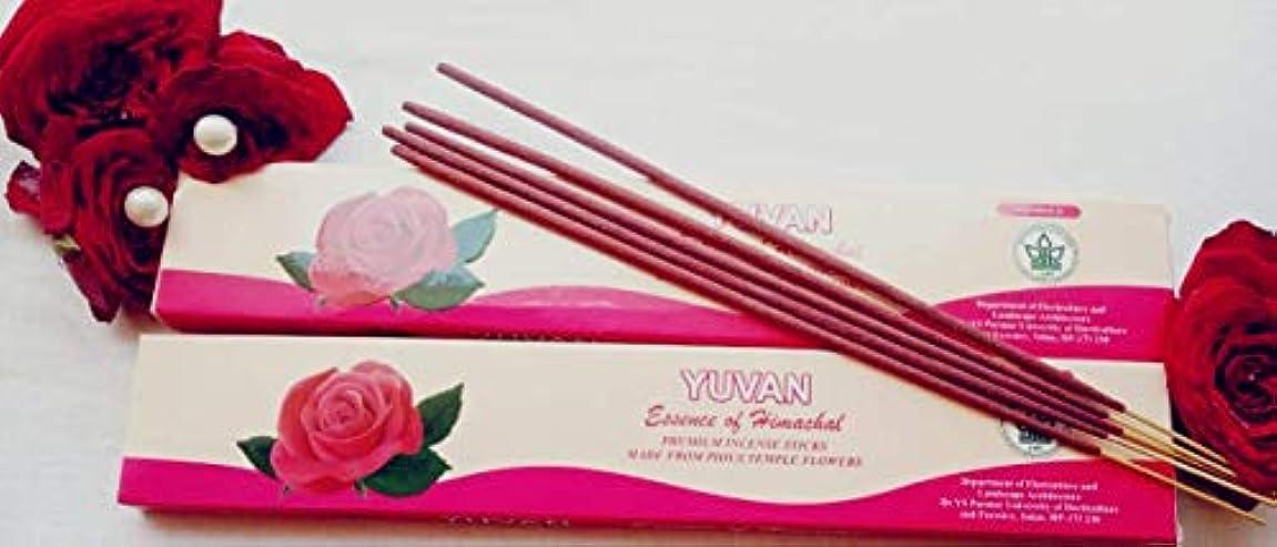 引退する巨大なランチョンHandmade Organic Incense Sticks (Combo: Rose & Sandal)