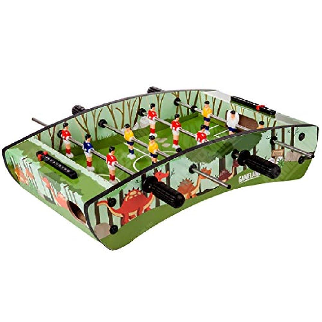 持っている巻き戻す可塑性テーブルサッカー3-10サッカーテーブルのおもちゃ4バーテーブルサッカーテーブル子供のボードゲームのおもちゃ教育子供のおもちゃ男の子のインタラクティブスポーツのおもちゃ子供のためのギフト (Color : GREEN, Size : 69*36.5*22.5CM)