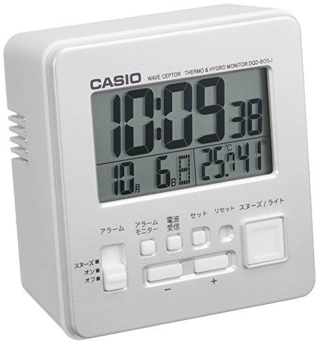 wave ceptor 温度・湿度計測機能付き時計 [電波 置き 時計] DQD-805J-8JF シルバー 1個