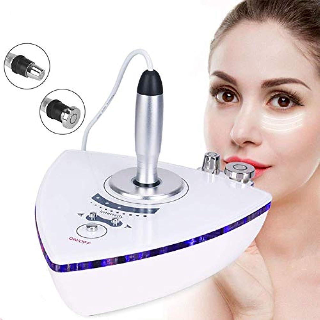 メンテナンス強度閉じるRF無線周波数ひげマシンホーム用、肌の若返りしわ除去肌のためのリフティングのために二つのプローブを用いたRF美容機器マッサージャーアンチエイジングスキンケアを締めます