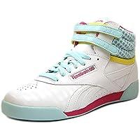 Reebok Freestyle Hi Youth US 4 White Sneakers