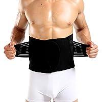 Zhhlinyuan サウナベルト ウエストトリマーベルト メンズ レディース 運動ダイエットベルト腰 保護 姿勢矯正 男女兼用 Men Waist Trimmer Belt Compression Slimming Belt 調整可能 超軽量
