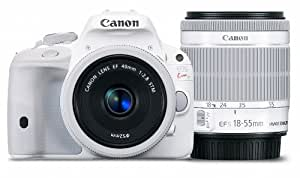 Canon デジタル一眼レフカメラ EOS Kiss X7(ホワイト) ダブルレンズキット2 EF-S18-55mm F3.5-5.6 IS STM(ホワイト) EF40mm F2.8 STM(ホワイト) 付属 KISSX7WH-WLK2
