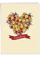 本当にありがとう婚約Funny Paperカード 1 Jumbo Wedding Card & Enve. (J6578IWDG)
