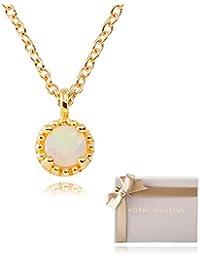 VOTRE COUTURE 天然 オパール ネックレス フリーサイズ 宝飾職人製作 保証書付 レディース ゴールド 丸型