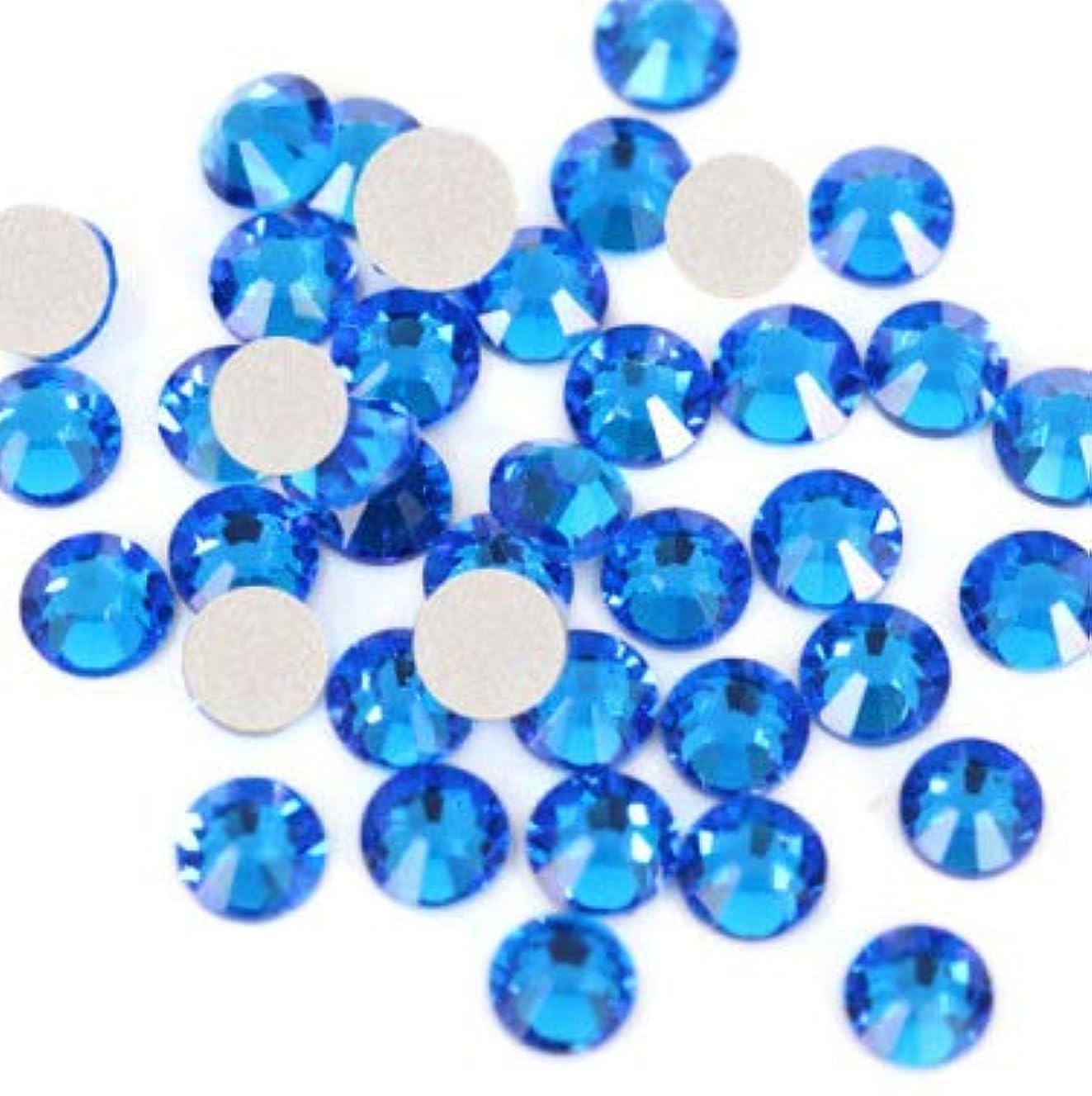 【ラインストーン77】高品質ガラス製ラインストーン 色/サイズ選択可 SS3~SS50 スワロフスキー同等 (カプリブルー, SS6:約1.9mm(約200粒))
