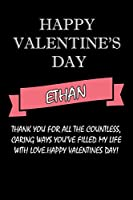 happy valentine's day  Ethan Quote: composition notebook :valentine's day gift for an happy valentine day gratitude your lover