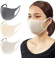 [Amazon限定ブランド] 日本製 洗えるマスク ポリウレタン 4サイズ×3カラー 3枚入り ふつう 国内検査済 抗菌防臭 フィット感 耳が痛くなりにくい 呼吸しやすい 個包装 [HYPER GUARD] MASK-1