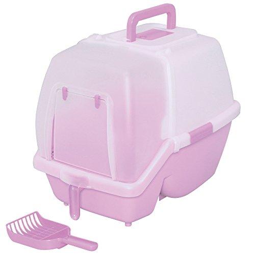 アイリスオーヤマ 掃除のしやすいネコトイレ SSN-530 ミルキーピンク