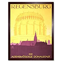 Travel Tourism Regensburg Germany Dom Church Art Print Framed Poster Wall Decor 12X16 Inch 旅行観光ドイツ教会ポスター壁デコ
