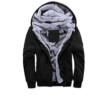 メンズ パーカー 裏起毛 フード アウター 長袖 フード付き 大きい サイズ 厚手 防寒 春 秋 冬 black 2XL