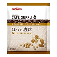 コーヒー ドリップコーヒー ドリップバッグコーヒー ドリップバッグ カフェサプリ ほっと珈琲 31袋 ブルックス BROOK'S 和漢エキス