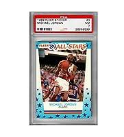 Fleer 1989 マイケル・ジョーダン シカゴ・ブルズ #3 PSA 7 ユニーク バスケットボール NBA 収集価値のあるカード ビンテージ