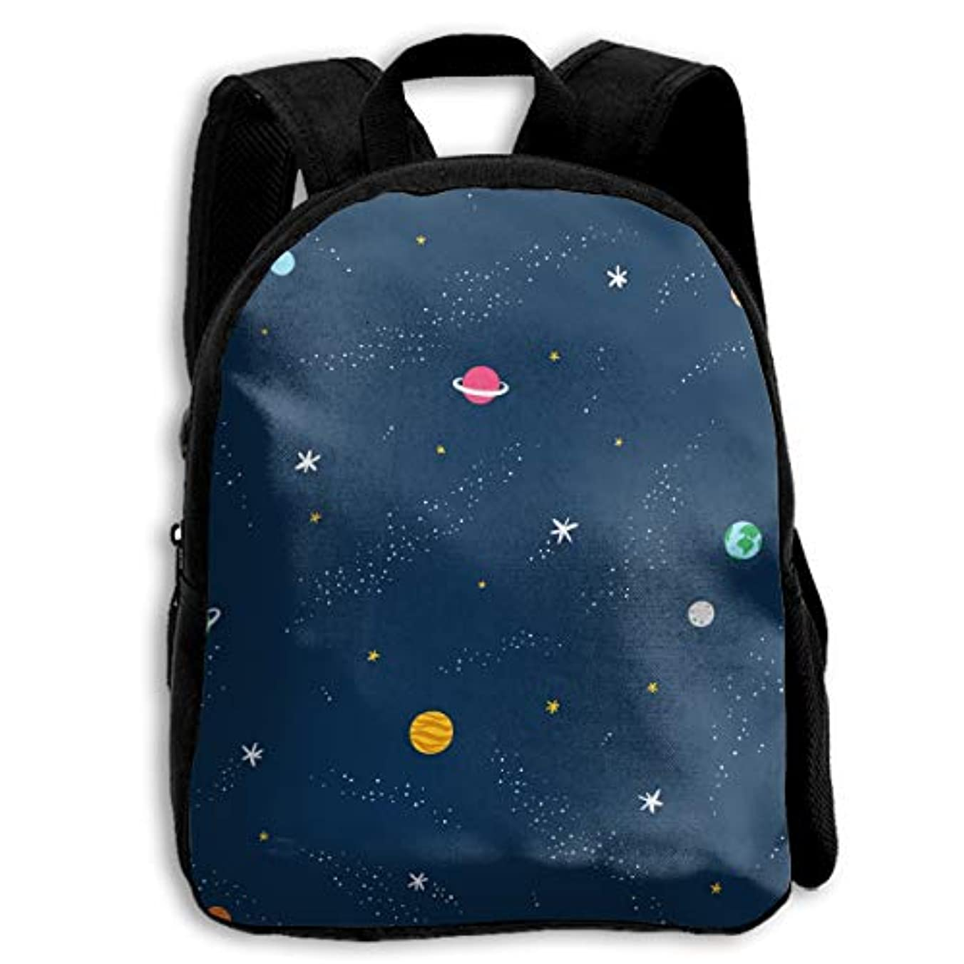 息切れヶ月目敗北キッズ リュックサック バックパック キッズバッグ 子供用のバッグ キッズリュック 学生 惑星 宇宙 銀河 星 夜 アウトドア 通学 ハイキング 遠足