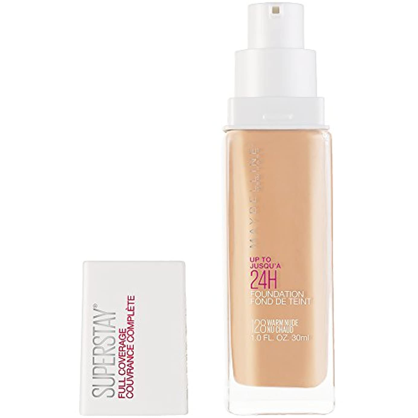 地震どこか非武装化MAYBELLINE Superstay Full Coverage Foundation - Warm Nude 128 (並行輸入品)