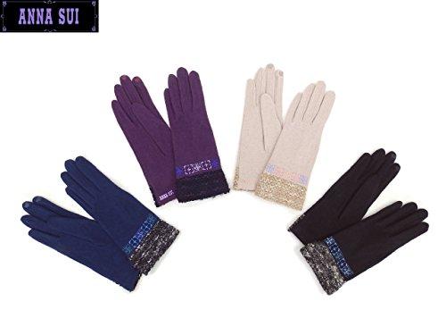 (アナスイ) ANNA SUI 手袋 AS0164 (ブラック系)