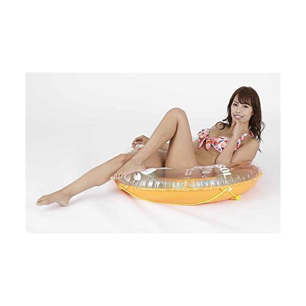 ドウシシャ 浮き輪 オレンジホヌ 100cmの紹介画像4