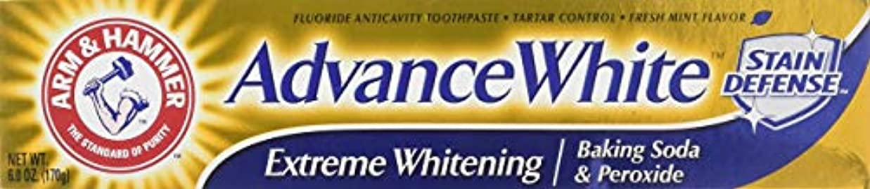 書誌素人蒸発Arm & Hammer アドバンスホワイトエクストリームホワイトニングハミガキクリーンミント - 6 Oz-