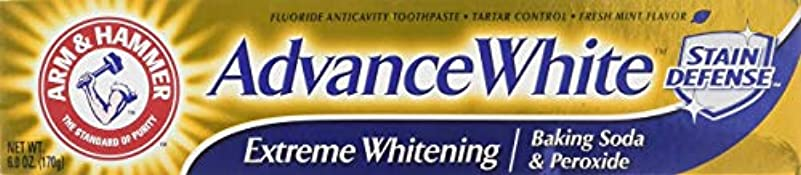 拷問でる非アクティブArm & Hammer アドバンスホワイトエクストリームホワイトニングハミガキクリーンミント - 6 Oz-