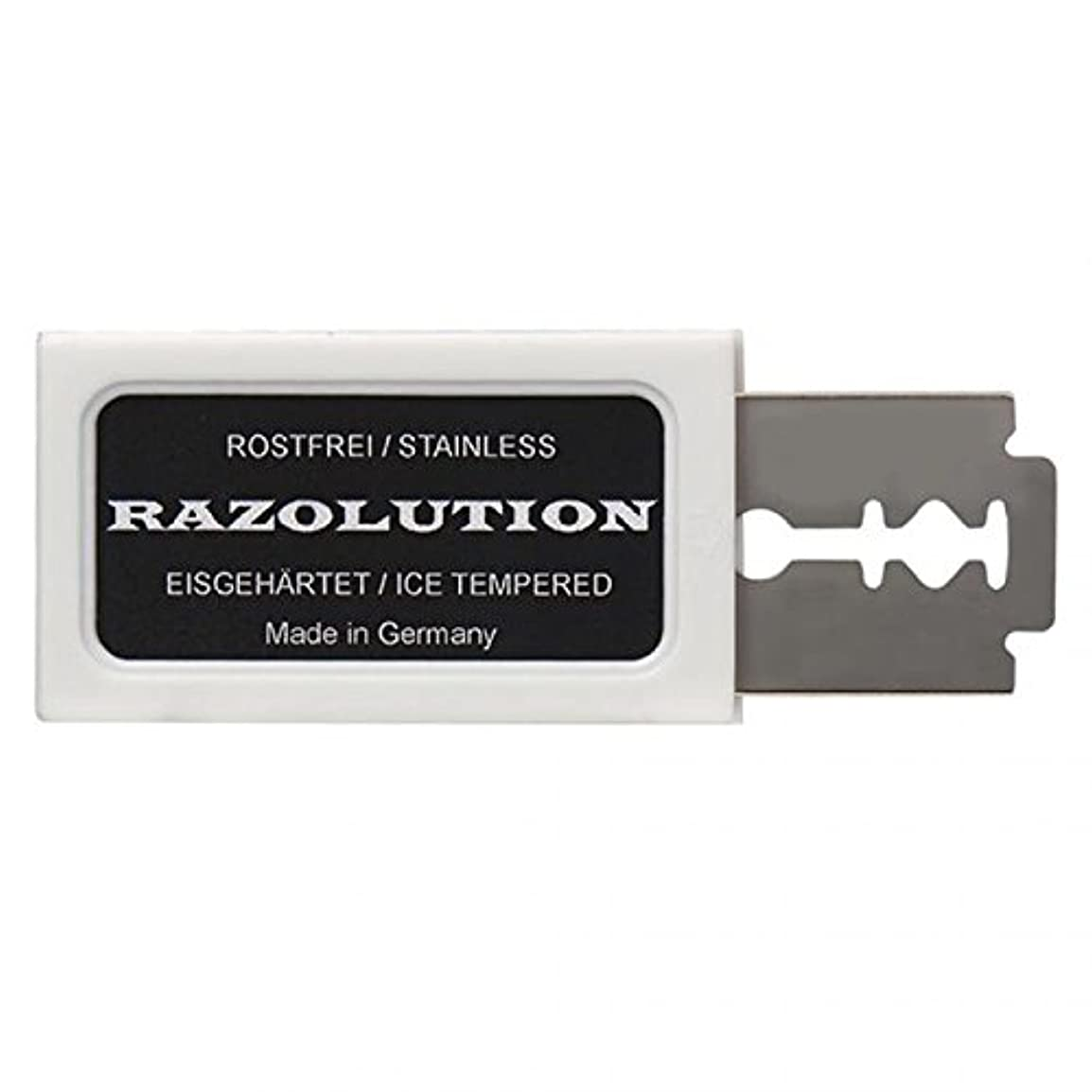 厳盲信実業家RAZOLUTION Razor blades, 10 pieces, Made in Germany