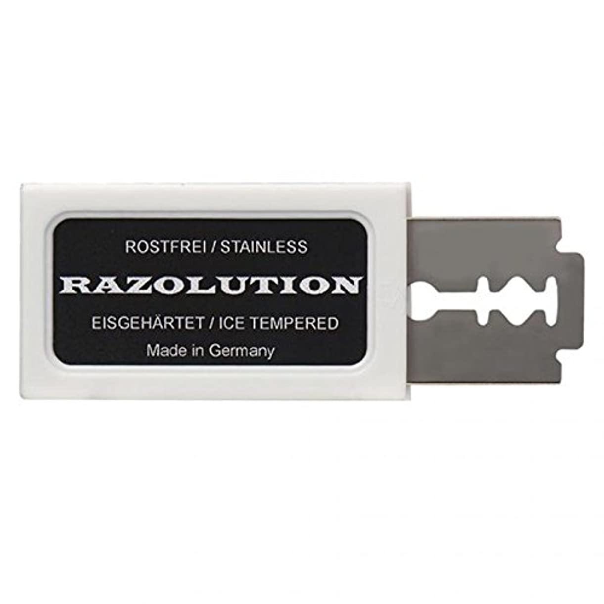腸商業のブランクRAZOLUTION Razor blades, 10 pieces, Made in Germany