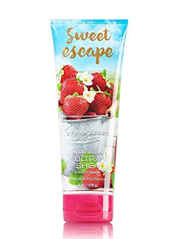 静けさシガレットみすぼらしい【Bath&Body Works/バス&ボディワークス】 ボディクリーム ストロベリーピクニック Body Cream Sweet Escape Strawberry Picnic 8 oz / 226 g [並行輸入品]
