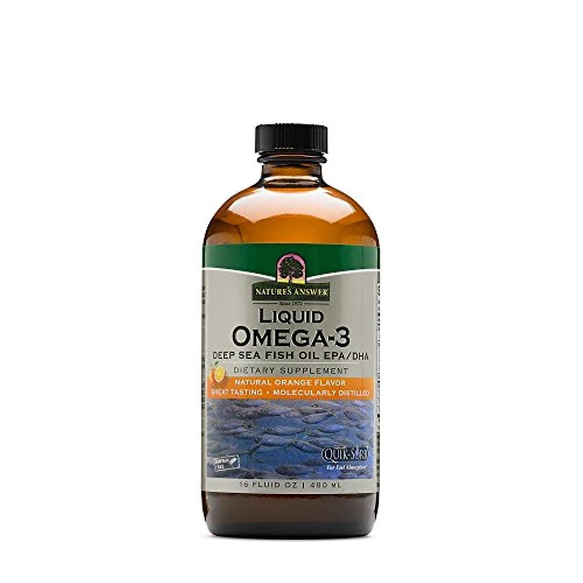 年事典型的な海外直送品Nature's Answer Liquid Omega 3 Deep Sea Fish Oil Epa/dha, 16 Oz