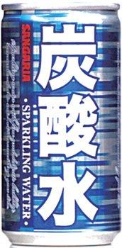 サンガリア 炭酸水 185ml缶 30本