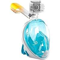 シュノーケルマスク EKOOS ダイビングマスク 防曇 フルフェイス型 子ども用 180°のワイドビュー 浸水防止 折り畳み式 海のプール 潜水マスク スポーツカメラ取付可能 男女兼用 シュノーケルに最適
