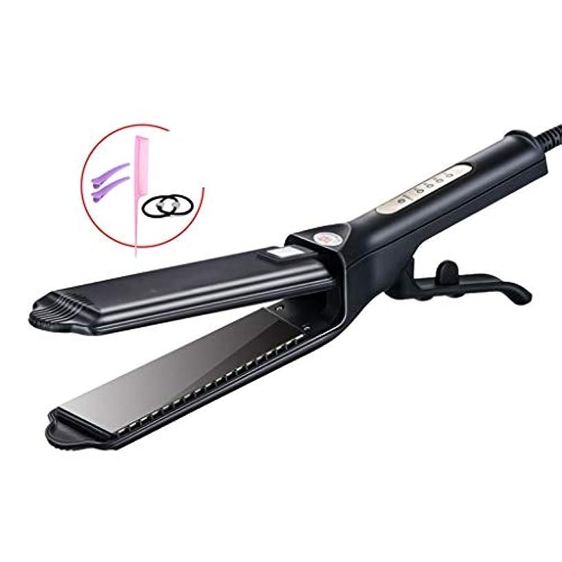 アクセスできない治世ポジティブJWWOZ セラミックストレートヘアストレートヘアカール2で1ポータブルパーマポータブルパーマ前髪クリップ ストレートヘアアイロン (Color : A)