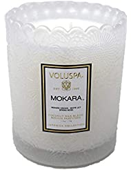 Voluspa ボルスパ ジャポニカ スカラップグラスキャンドル モカラ JAPONICA Glass Candle MOKARA