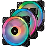Corsair LL120 RGB, 120mm Dual Light Loop, RGB LED PWM Fan - Black (Triple Pack)
