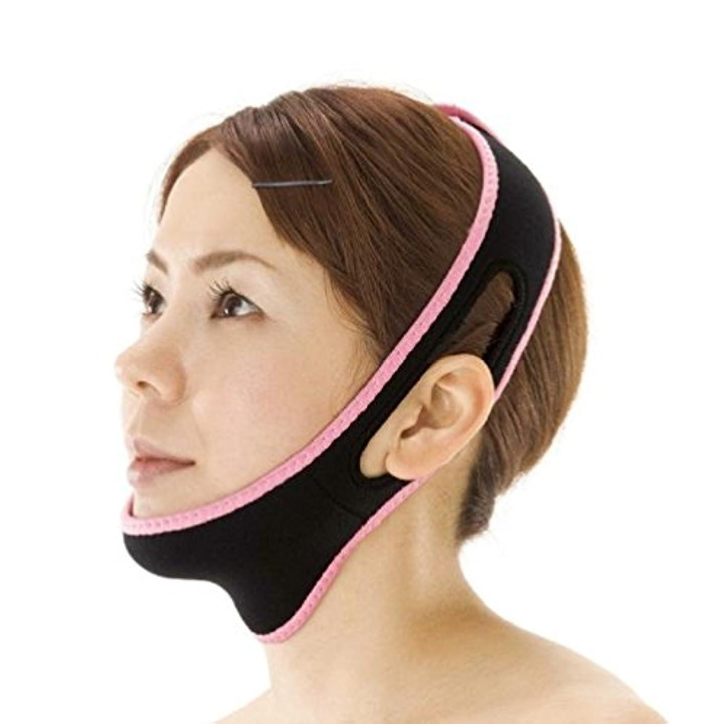 リボン期間ホール小顔リフトアップベルト 寝ながら小顔 小顔矯正 ゲルマニウム 男女兼用ベルト いびき対策
