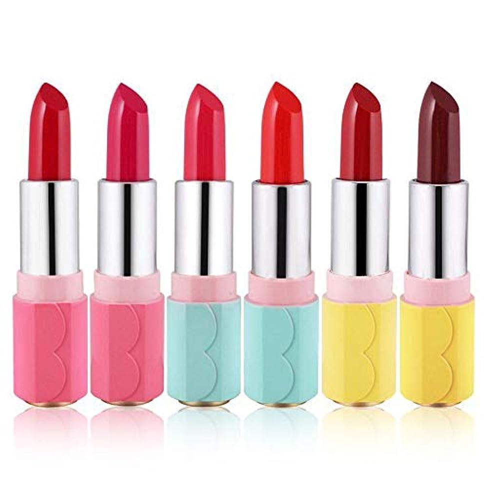 信じられない矢印蒸し器1ピース6色口紅用女の子女性防水長持ち保湿化粧口紅 (2)