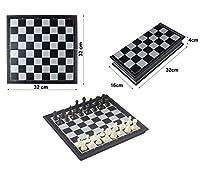 HTUK®チェスゲーム大型磁気トラベルチェスゲームテーブルトップデスクゲーム折りたたみ磁気チェスボード
