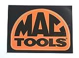 Mactools(マックツールズ) ステッカー ドームロゴ Mサイズ オレンジ [並行輸入品]