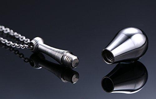 [해외]노 브랜드 제품 스테인레스 스틸 펜던트 목걸이 크로스 무늬 향수병 형 (실버)/No brand name stainless steel pendant necklace cross pattern perfume bottle type (silver)