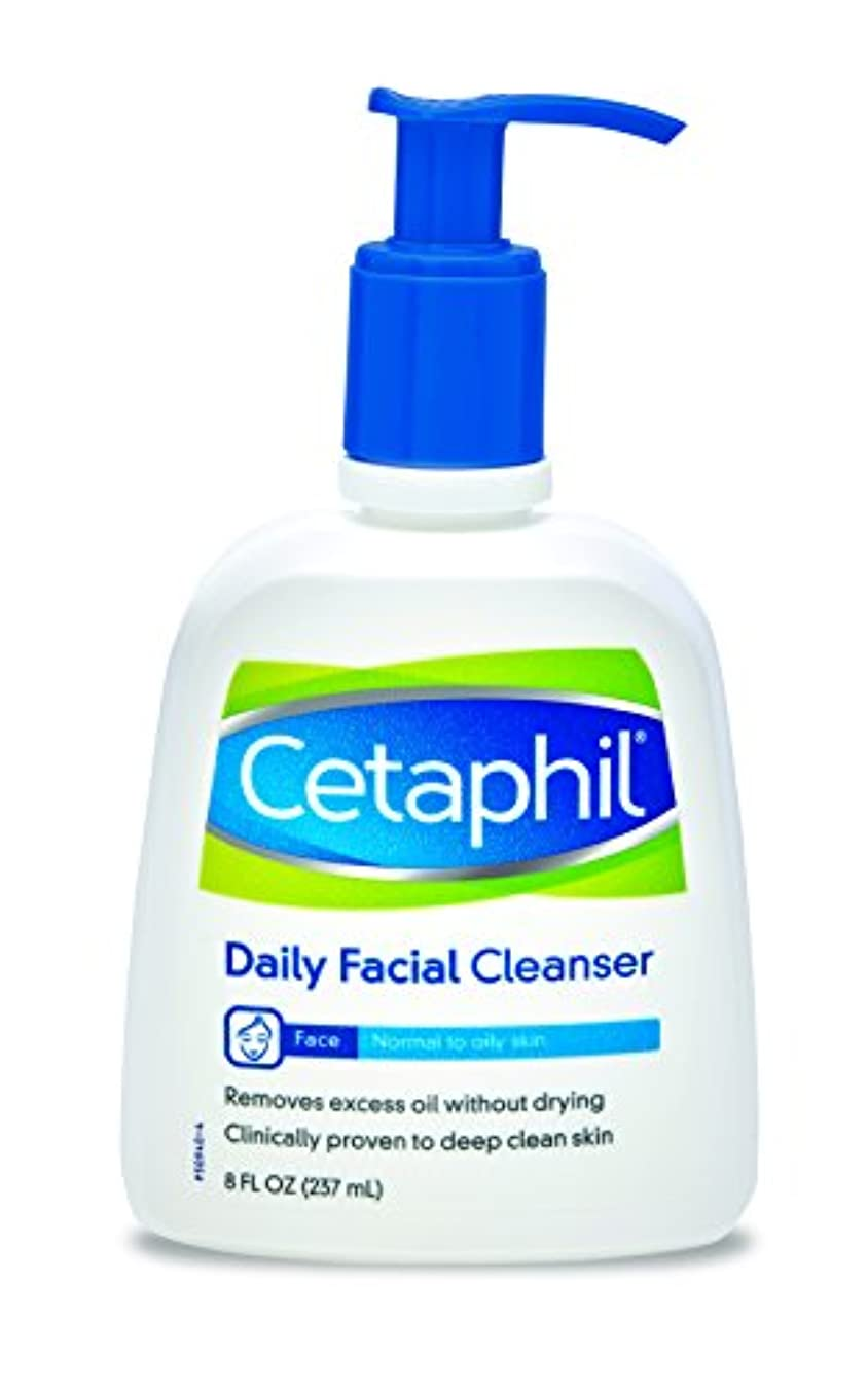 ワゴンメイドしがみつく(240ml) - Cetaphil Daily Facial Cleanser For Normal To Oily Skin 235 ml
