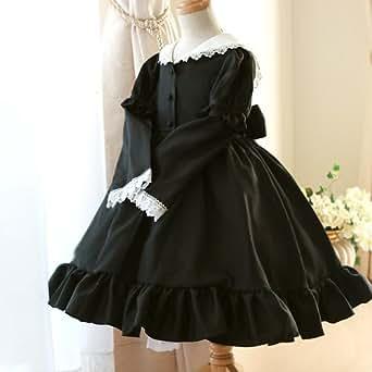 (キャサリンコテージ)Catherine Cottage 子供ドレス セーラー襟2WAYワンピース CC0007 150cm 黒 CC0007