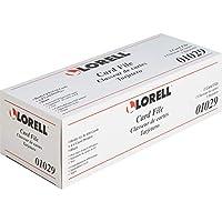 Lorell LLR01029 Desktop Rotary Card File 650 Card, Black & Clear